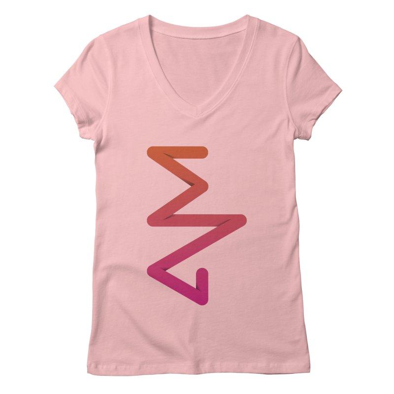 Neon X-ray Women's Regular V-Neck by virbia's Artist Shop
