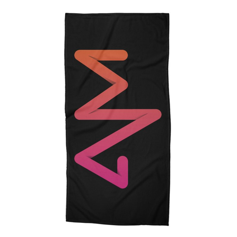 Neon X-ray Accessories Beach Towel by virbia's Artist Shop