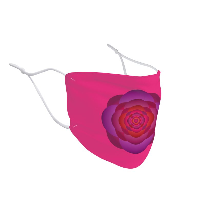 Flower Power Rose Accessories Face Mask by virbia's Artist Shop