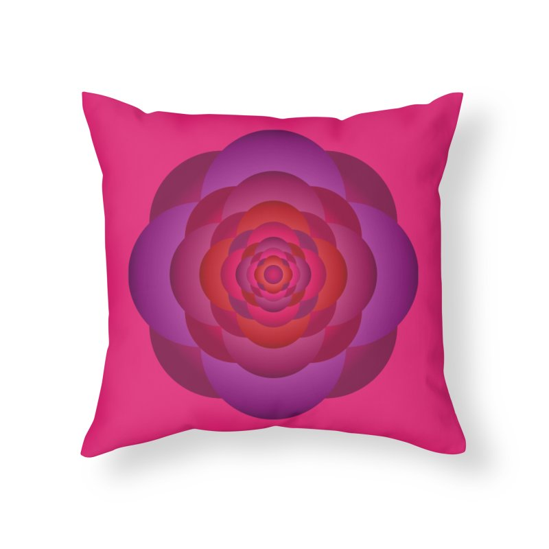 Flower Power Rose Home Throw Pillow by virbia's Artist Shop