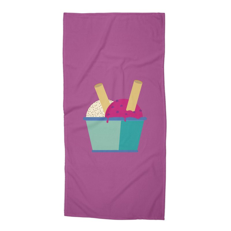 Ice cream Sweet 11 Accessories Beach Towel by virbia's Artist Shop
