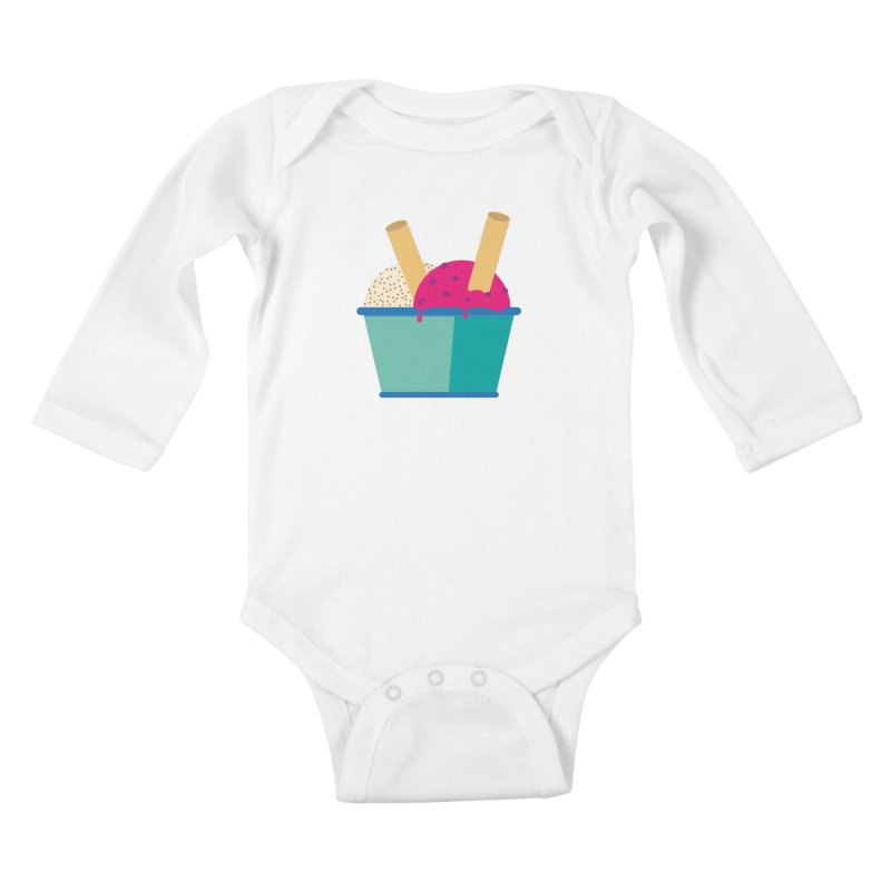 Ice cream Sweet 11 Kids Baby Longsleeve Bodysuit by virbia's Artist Shop