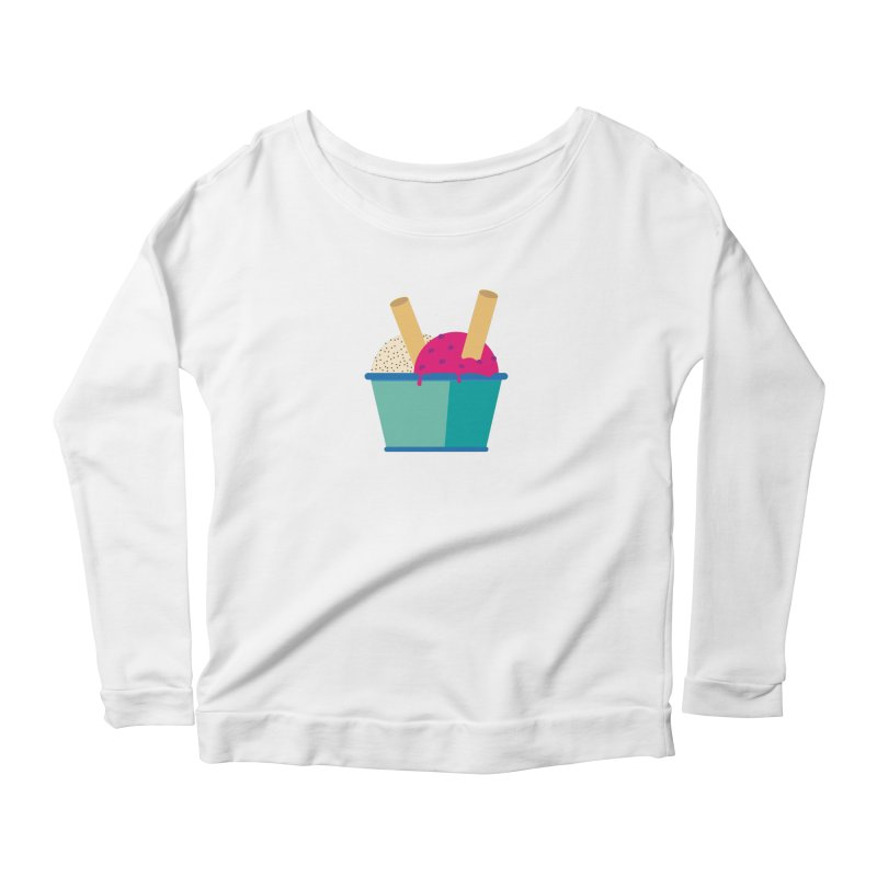 Ice cream Sweet 11 Women's Longsleeve Scoopneck  by virbia's Artist Shop