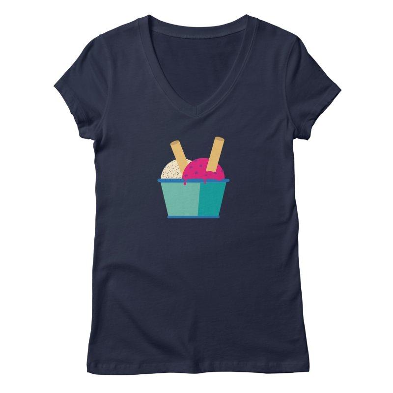 Ice cream Sweet 11 Women's V-Neck by virbia's Artist Shop