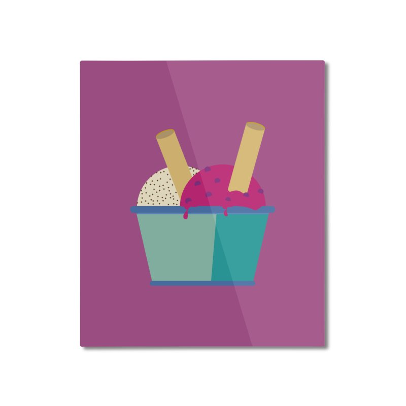 Ice cream Sweet 11 Home Mounted Aluminum Print by virbia's Artist Shop
