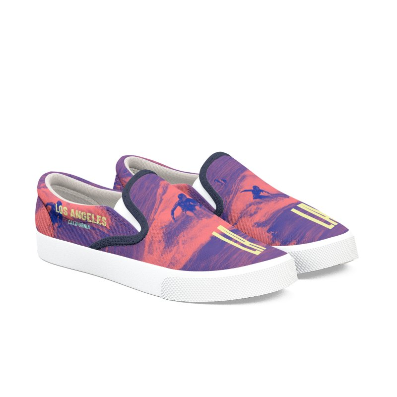 Los Angeles California Men's Slip-On Shoes by virbia's Artist Shop