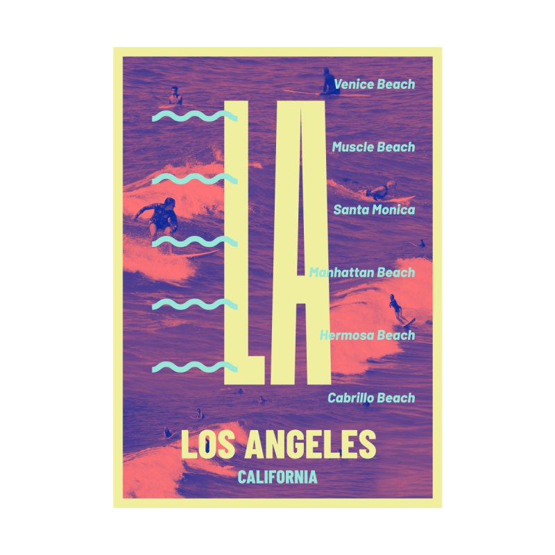 Los Angeles California Men's T-Shirt by virbia's Artist Shop