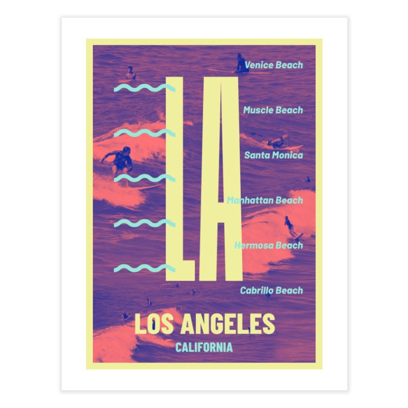 Los Angeles California Home Fine Art Print by virbia's Artist Shop