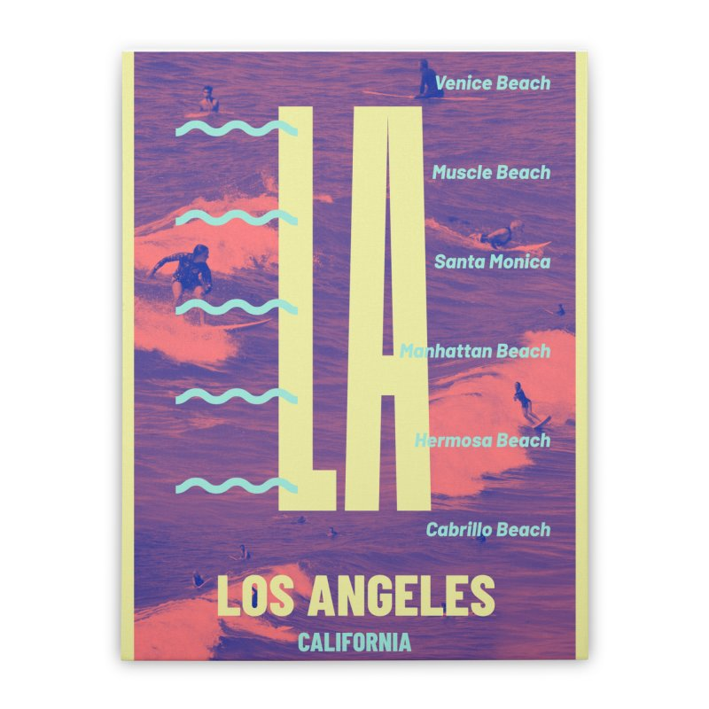 Los Angeles California Home Stretched Canvas by virbia's Artist Shop