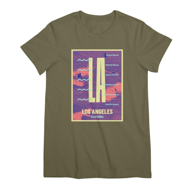 Los Angeles California Women's Premium T-Shirt by virbia's Artist Shop