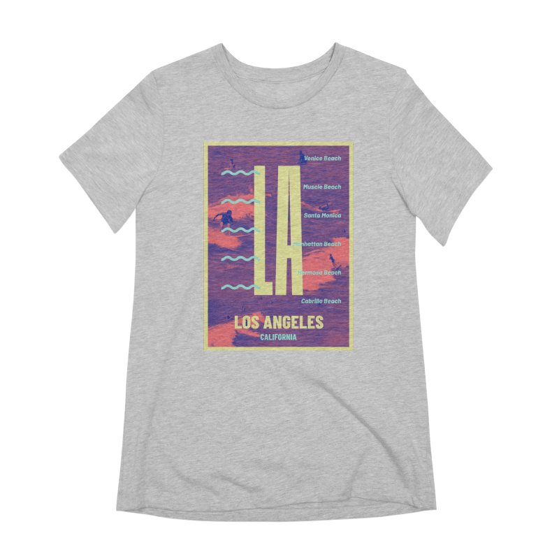 Los Angeles California Women's Extra Soft T-Shirt by virbia's Artist Shop