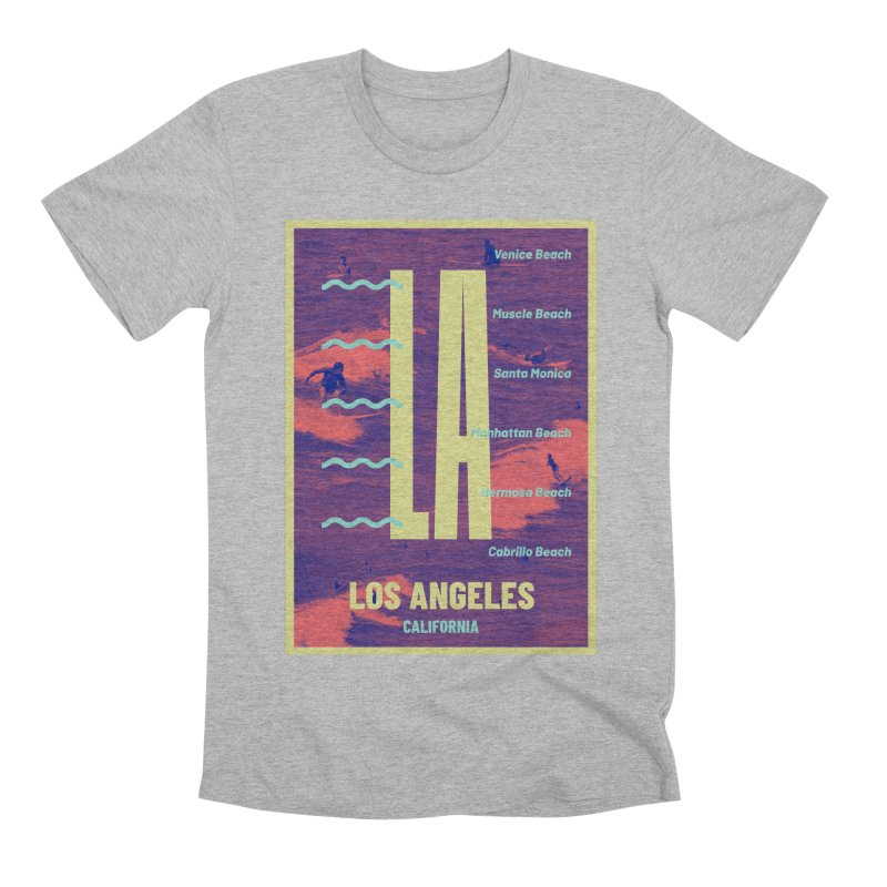 Los Angeles California Men's Premium T-Shirt by virbia's Artist Shop
