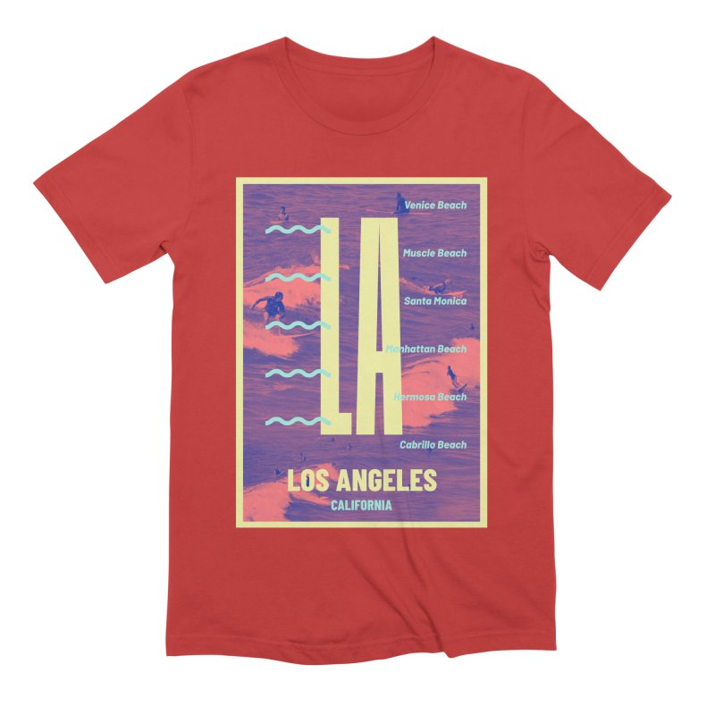Los Angeles California Men's Extra Soft T-Shirt by virbia's Artist Shop