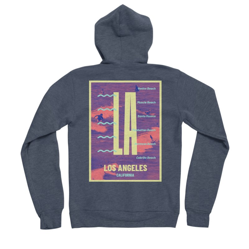 Los Angeles California Men's Sponge Fleece Zip-Up Hoody by virbia's Artist Shop