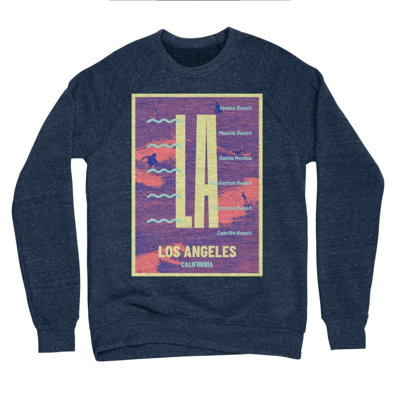 Los Angeles California Men's Sponge Fleece Sweatshirt by virbia's Artist Shop