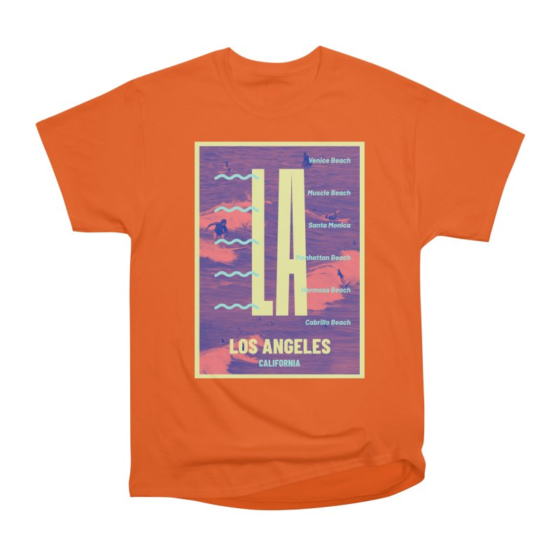Los Angeles California Women's Heavyweight Unisex T-Shirt by virbia's Artist Shop