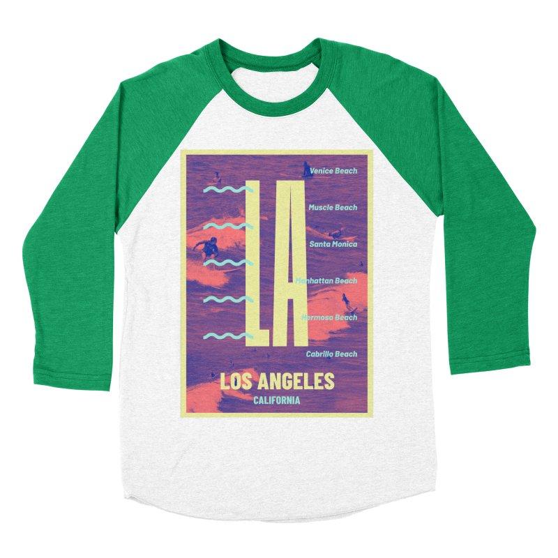 Los Angeles California Men's Baseball Triblend T-Shirt by virbia's Artist Shop