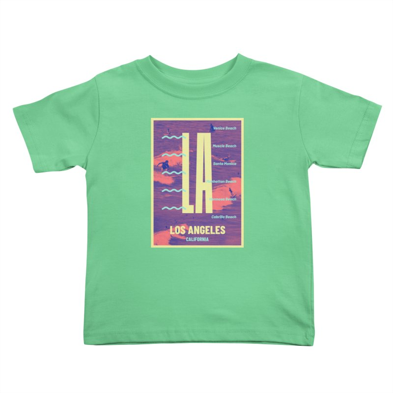 Los Angeles California Kids Toddler T-Shirt by virbia's Artist Shop