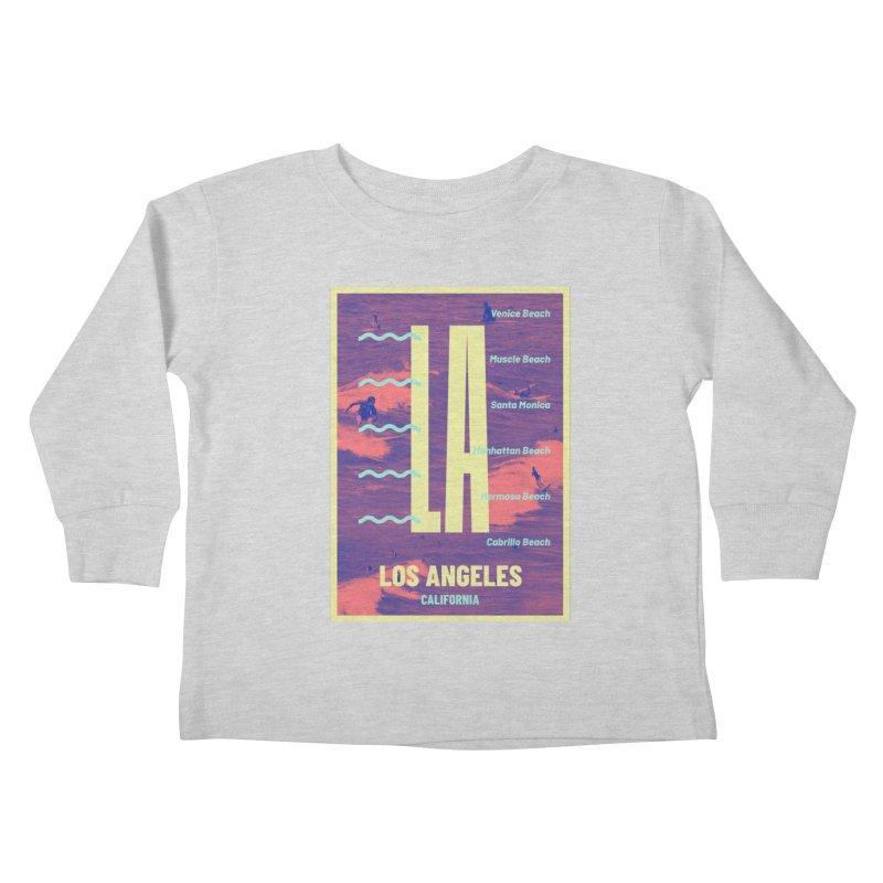 Los Angeles California Kids Toddler Longsleeve T-Shirt by virbia's Artist Shop