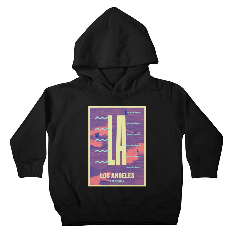Los Angeles California Kids Toddler Pullover Hoody by virbia's Artist Shop