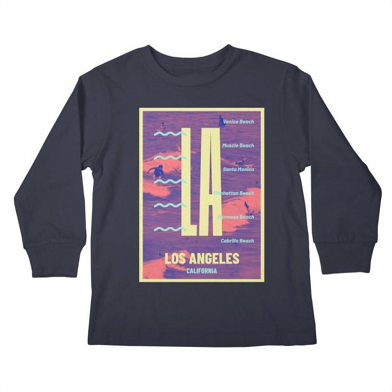Los Angeles California Kids Longsleeve T-Shirt by virbia's Artist Shop