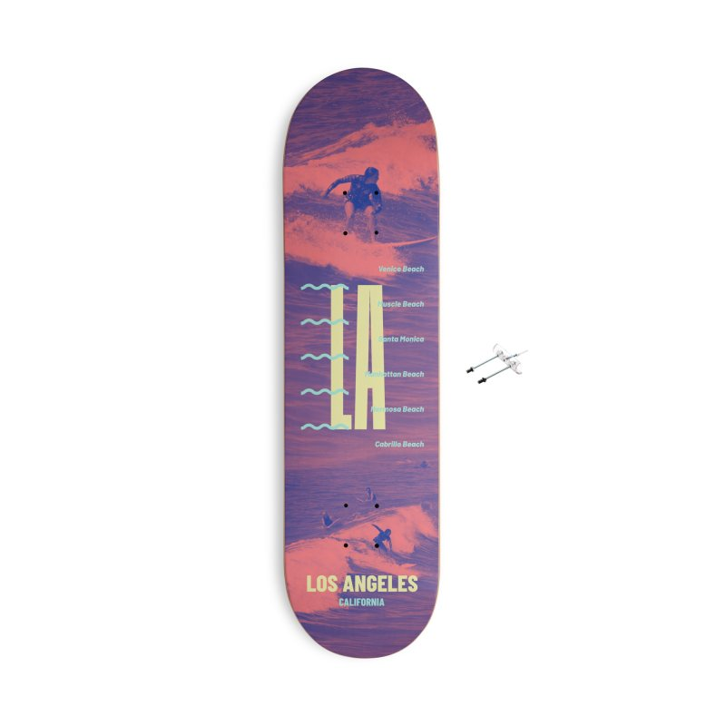 Los Angeles California Accessories With Hanging Hardware Skateboard by virbia's Artist Shop
