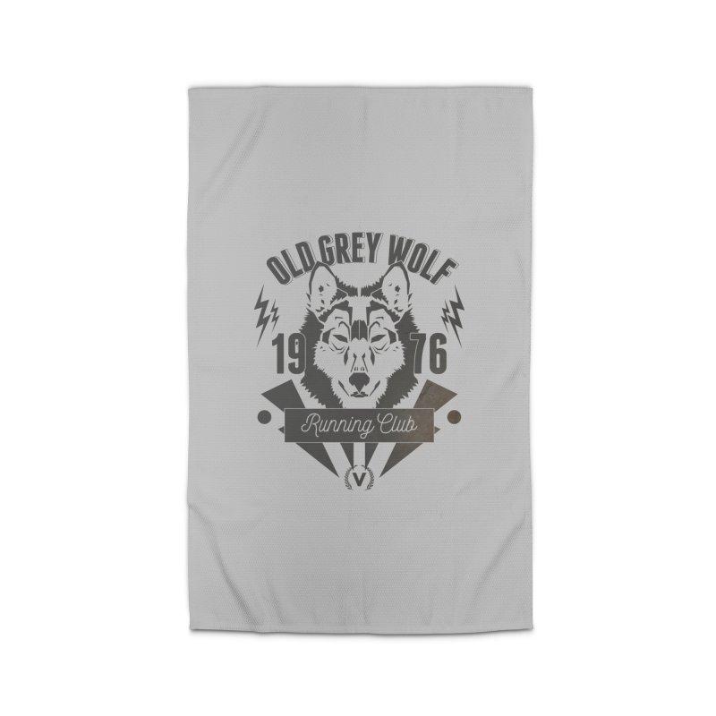 Grey Wolf running Vintage Home Rug by virbia's Artist Shop