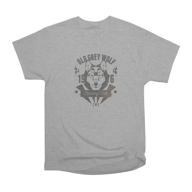 Grey Wolf running Vintage Men's Heavyweight T-Shirt by virbia's Artist Shop
