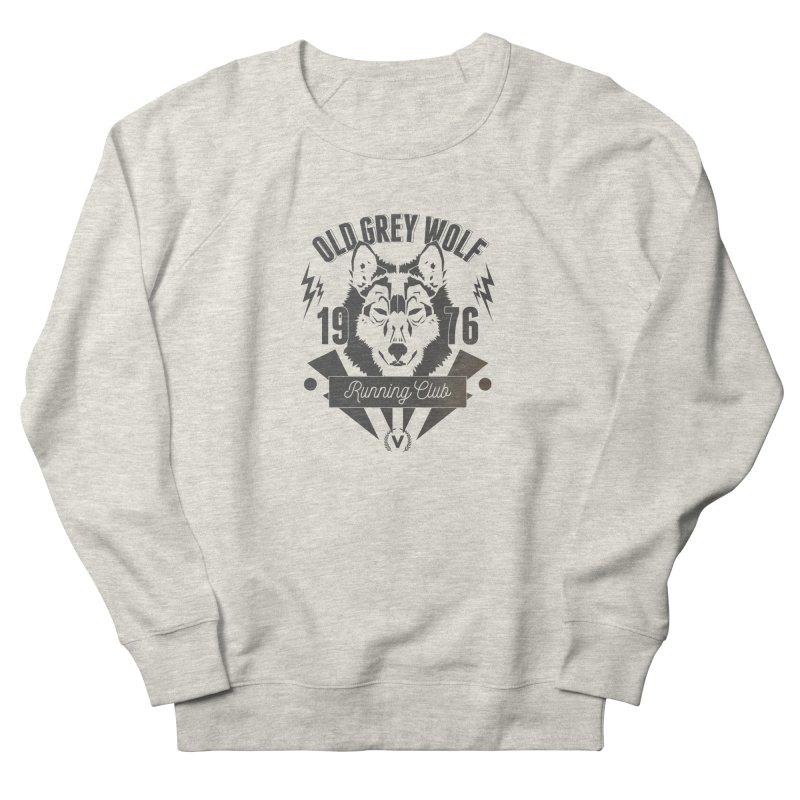 Grey Wolf running Vintage Women's Sweatshirt by virbia's Artist Shop