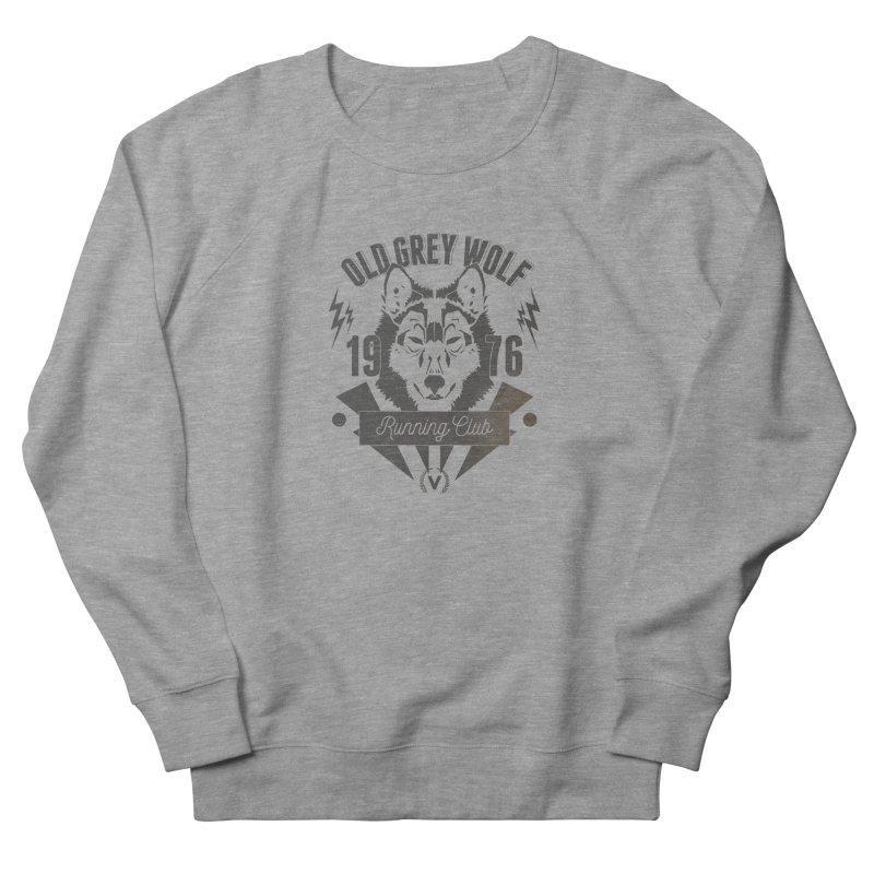 Grey Wolf running Vintage Men's Sweatshirt by virbia's Artist Shop