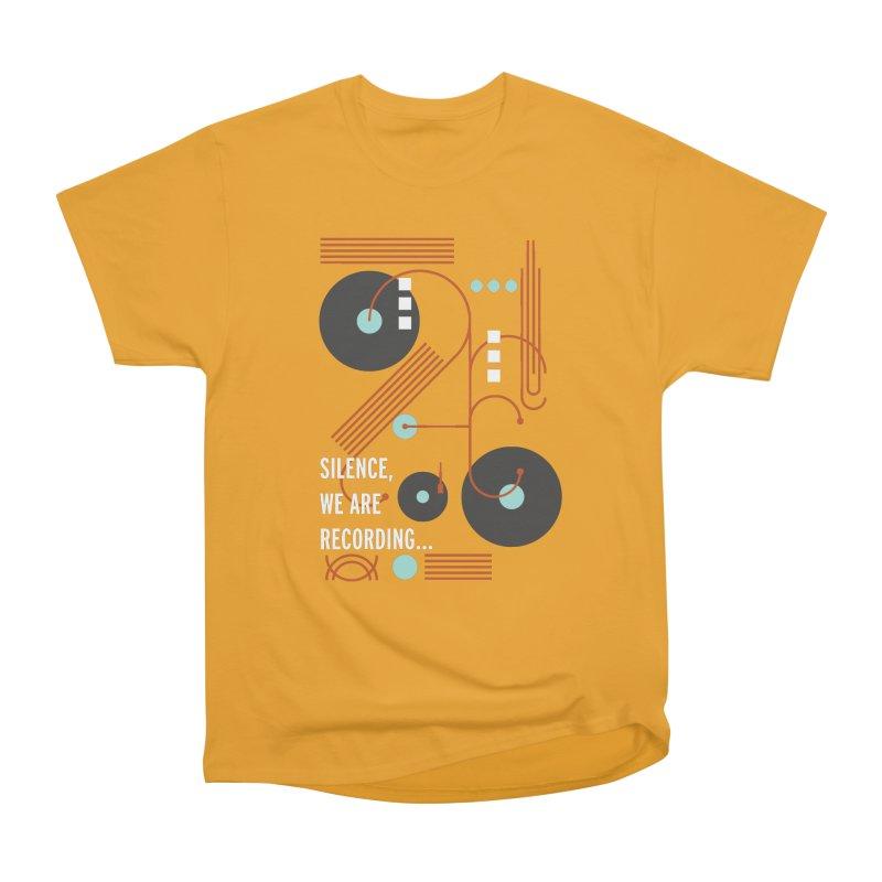 Music Vinyl Geometric Women's Heavyweight Unisex T-Shirt by virbia's Artist Shop