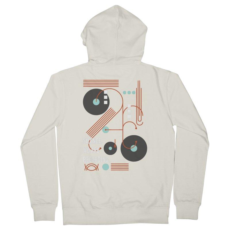Music Vinyl Geometric Women's Zip-Up Hoody by virbia's Artist Shop