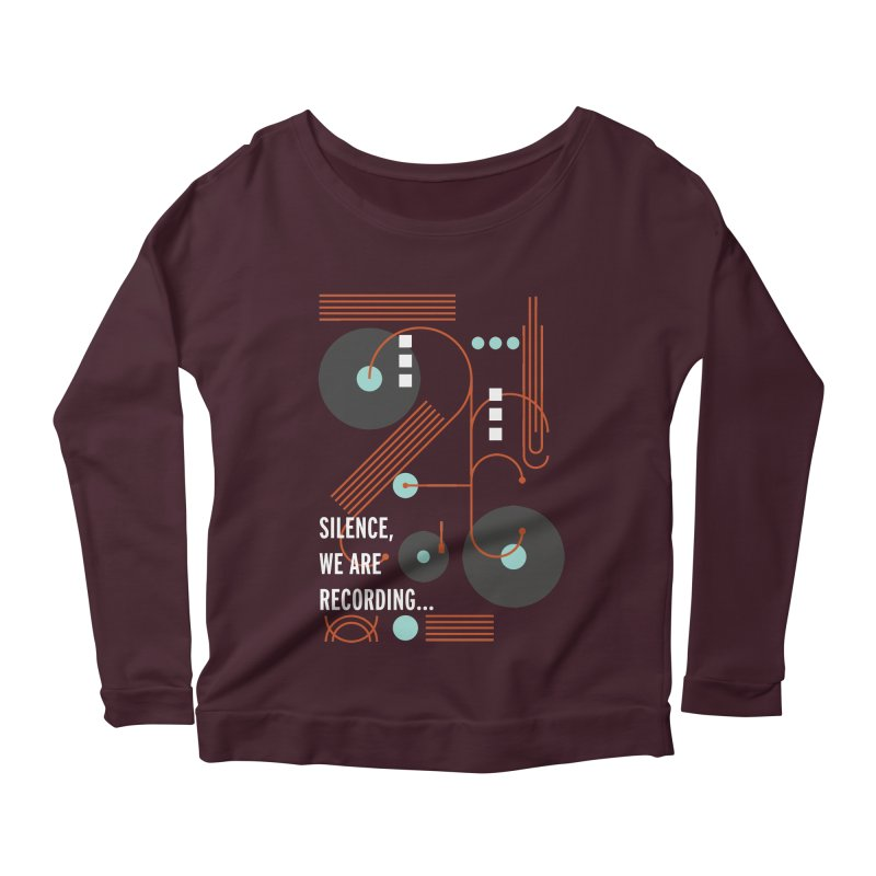 Music Vinyl Geometric Women's Longsleeve Scoopneck  by virbia's Artist Shop