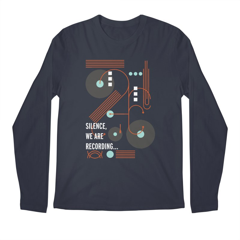 Music Vinyl Geometric Men's Longsleeve T-Shirt by virbia's Artist Shop