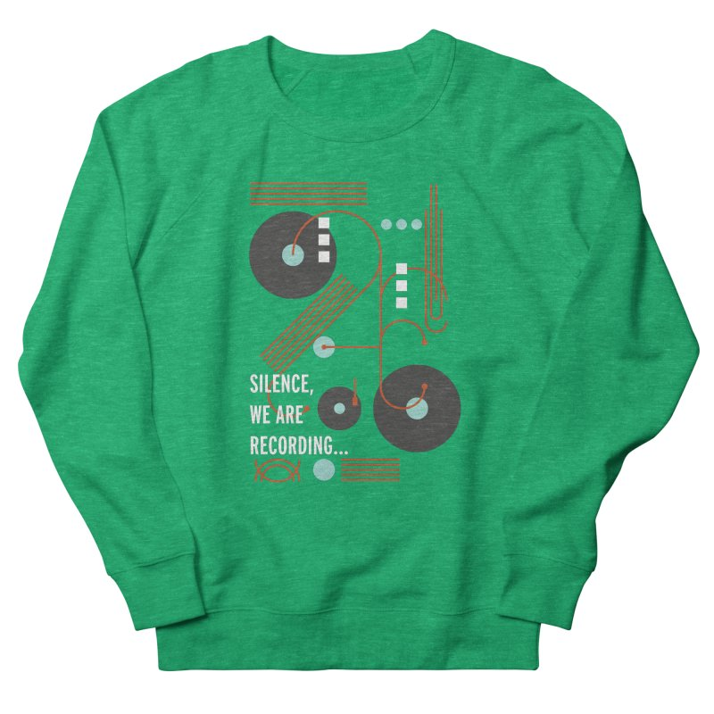 Music Vinyl Geometric Women's Sweatshirt by virbia's Artist Shop