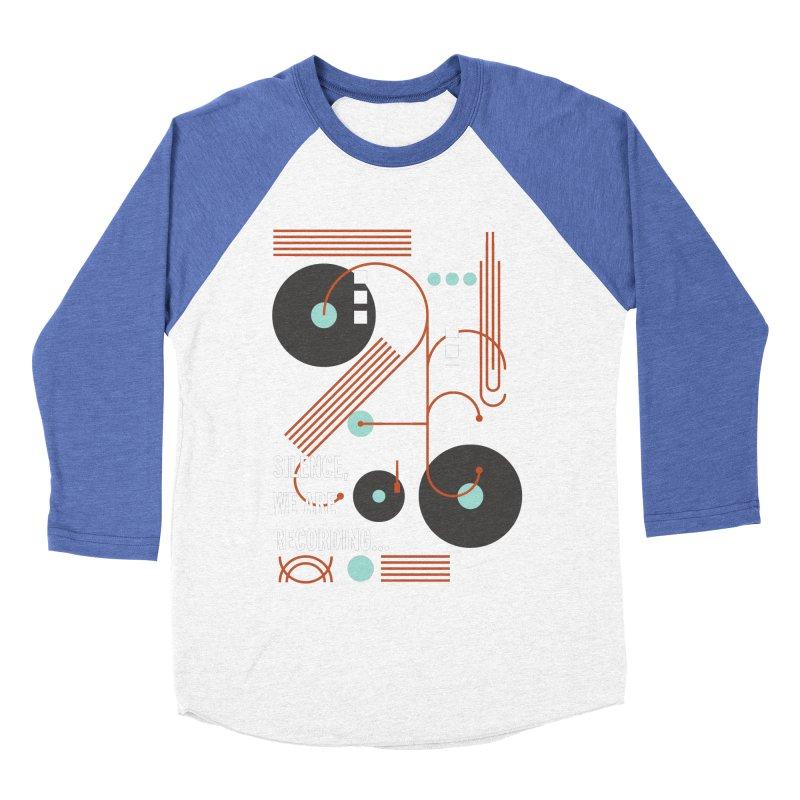 Music Vinyl Geometric Men's Baseball Triblend T-Shirt by virbia's Artist Shop