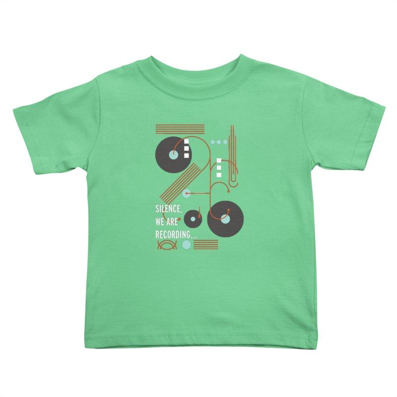 Music Vinyl Geometric Kids Toddler T-Shirt by virbia's Artist Shop