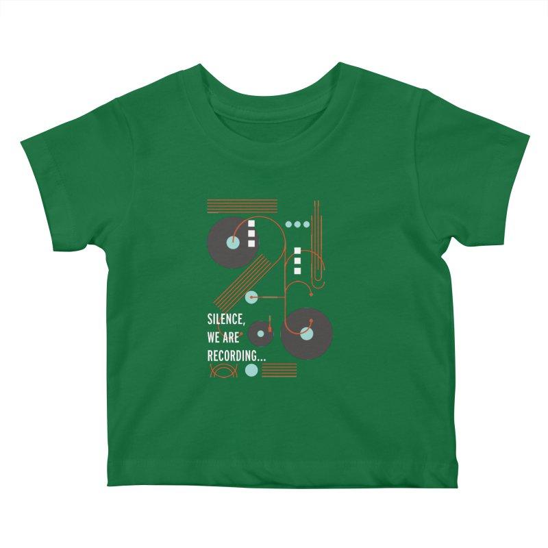 Music Vinyl Geometric Kids Baby T-Shirt by virbia's Artist Shop