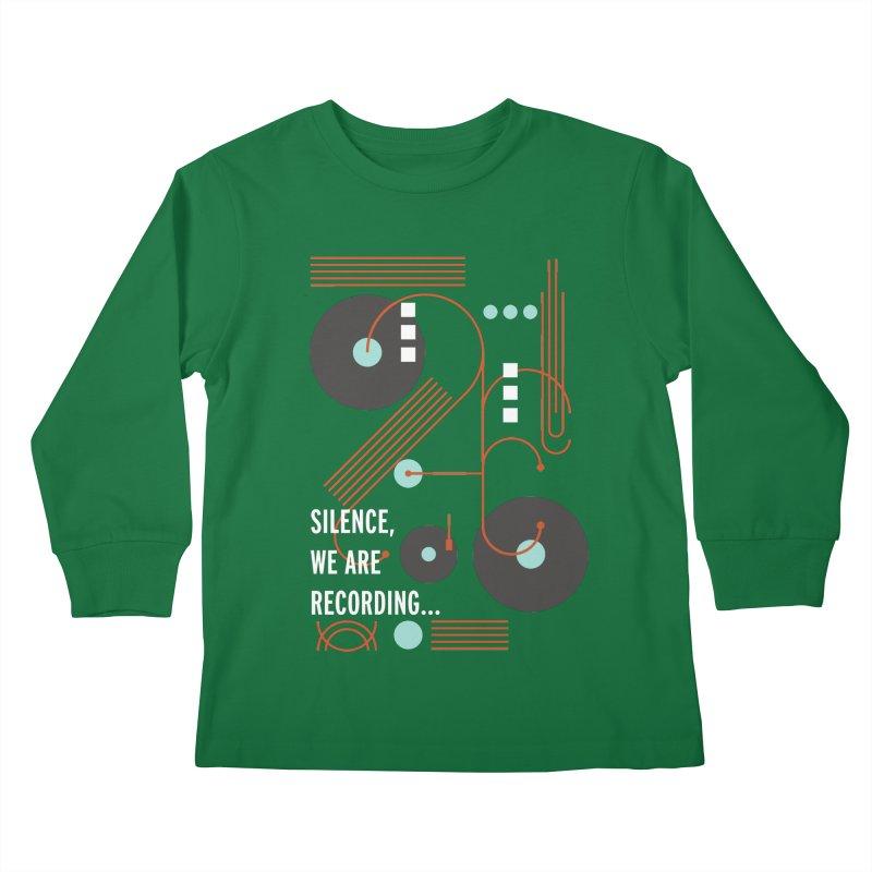 Music Vinyl Geometric Kids Longsleeve T-Shirt by virbia's Artist Shop