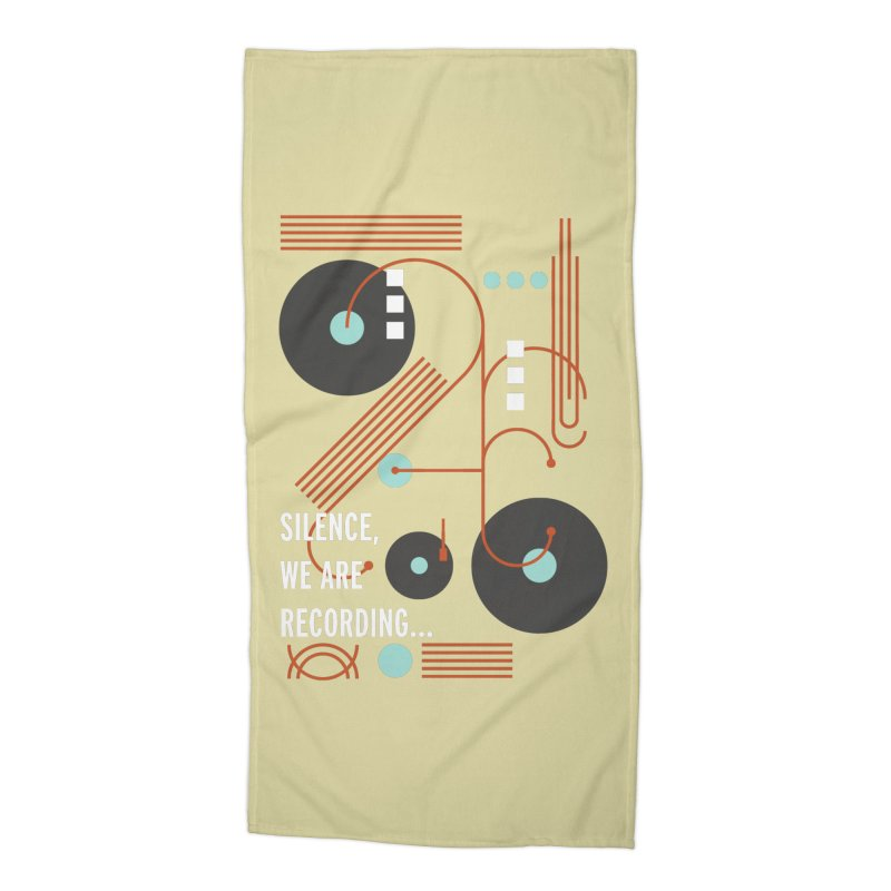 Music Vinyl Geometric Accessories Beach Towel by virbia's Artist Shop