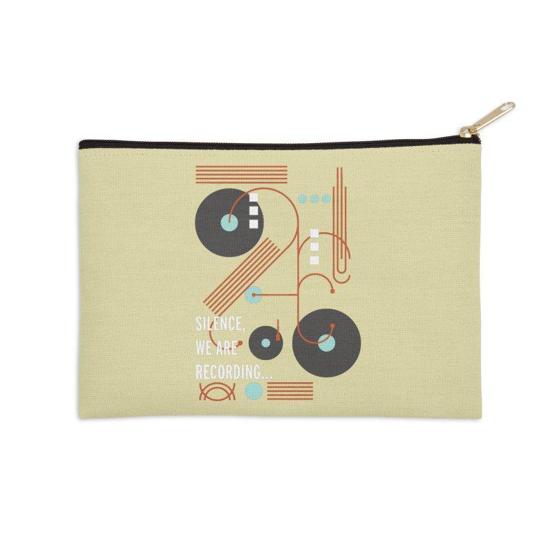 Music Vinyl Geometric Accessories Zip Pouch by virbia's Artist Shop
