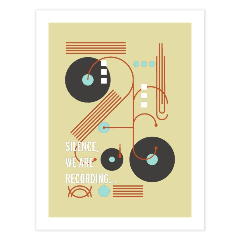 Music Vinyl Geometric Home Fine Art Print by virbia's Artist Shop