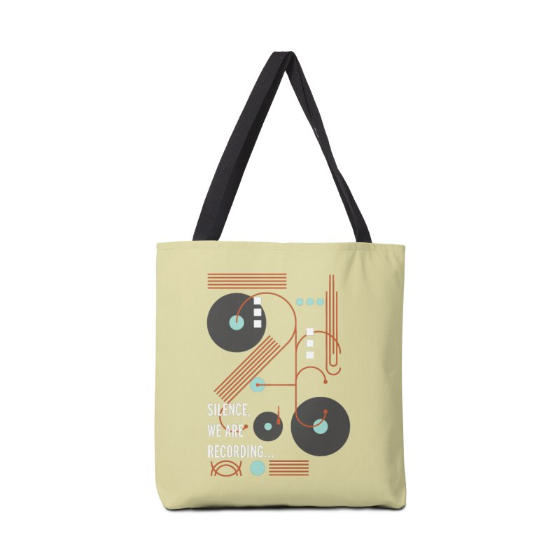Music Vinyl Geometric Accessories Bag by virbia's Artist Shop