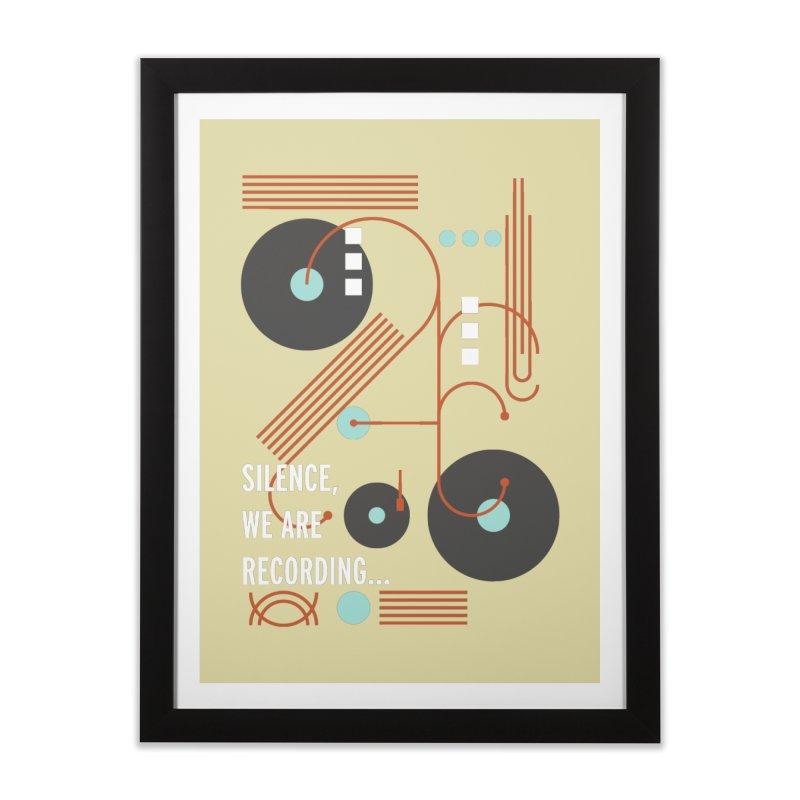 Music Vinyl Geometric Home Framed Fine Art Print by virbia's Artist Shop
