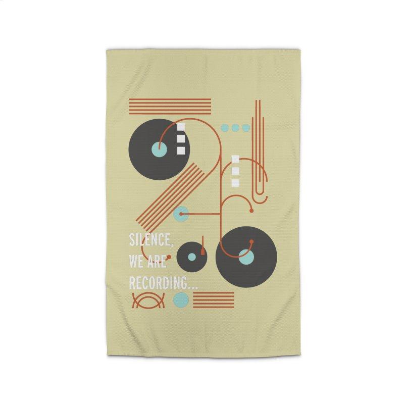 Music Vinyl Geometric Home Rug by virbia's Artist Shop