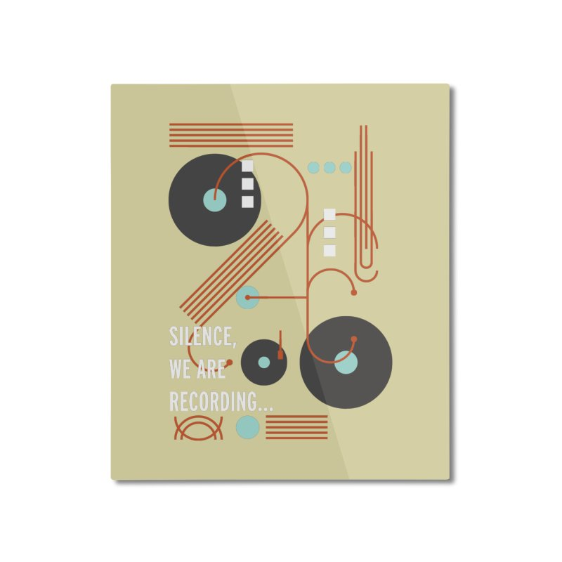Music Vinyl Geometric Home Mounted Aluminum Print by virbia's Artist Shop