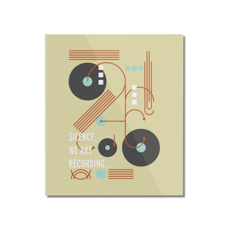 Music Vinyl Geometric Home Mounted Acrylic Print by virbia's Artist Shop