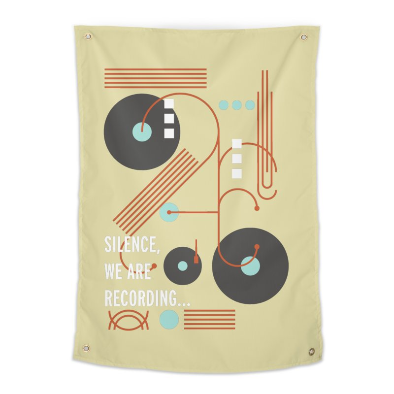 Music Vinyl Geometric Home Tapestry by virbia's Artist Shop
