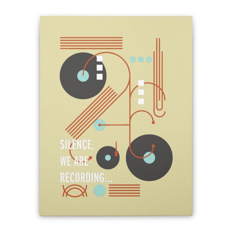 Music Vinyl Geometric Home Stretched Canvas by virbia's Artist Shop