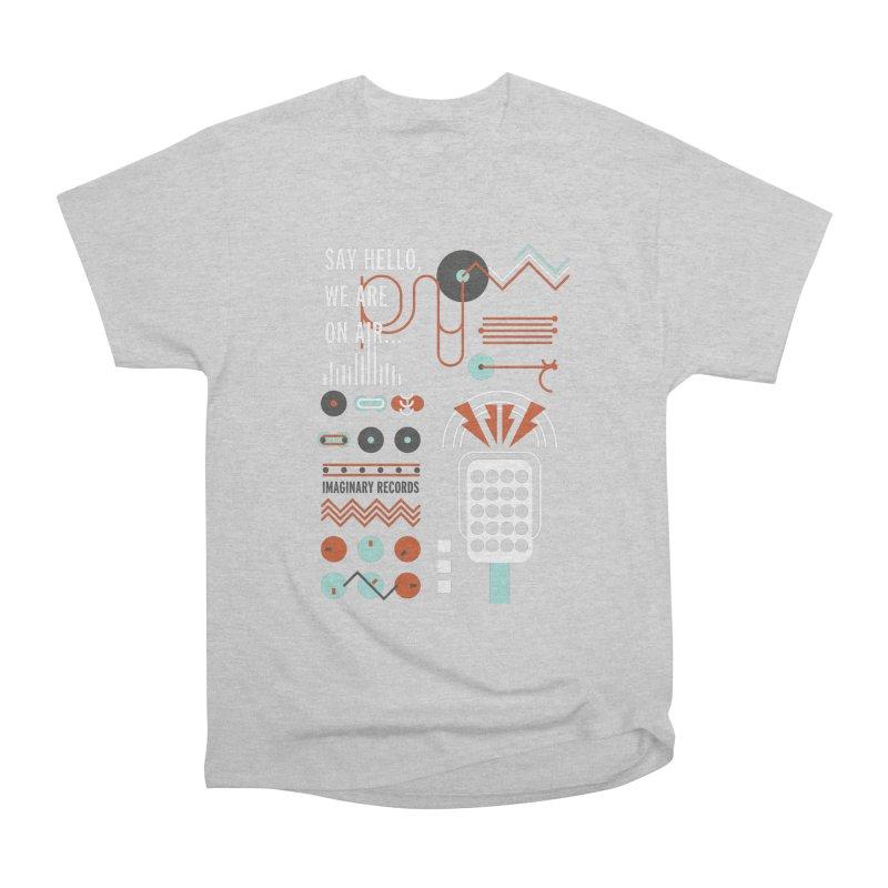 Music radio Vinyl Women's Heavyweight Unisex T-Shirt by virbia's Artist Shop